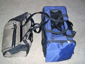Two pet carriers.