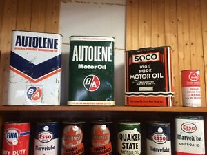 Vintage gas & oil cans