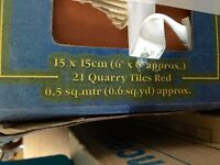 Quality 8 X pack of 21 Approx 'Quarry Tiles Red' 8 Boxes Brand New House Clearance