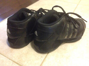 Lightly Worn Adidas All Black Basketball Shoes