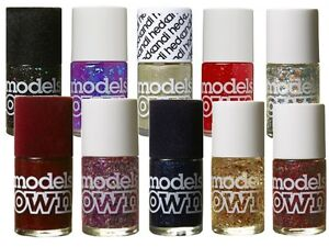 10 Pack Models Own Nail Polish 14ml Bottles Various Colours And Glitter Effects