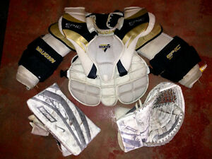 Senior Goalie Gear - Pads, Mask, Gloves +