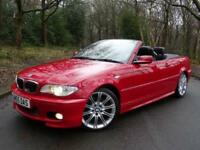 2005 55 BMW 330 3.0TD Cd Sport Convertible..VERY RARE IMOLA RED..STUNNING !!