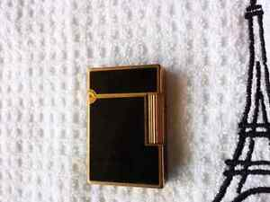 S.T. Dupont GATSBY Authentic lighter GOLD & Lacquer