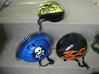 4 BICYCLE HELMETS/BIKES/TRICYCLE/TOYS