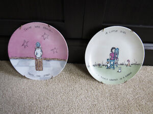 *PRICE REDUCED* 1980's Vintage Cottage St. Collector Plates