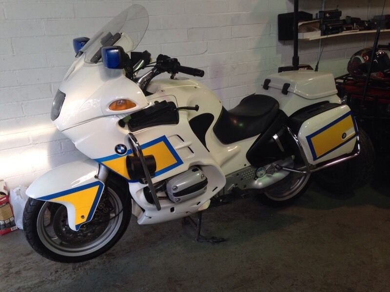 bmw r1100rt police bike 1998 full working lights and siren. Black Bedroom Furniture Sets. Home Design Ideas