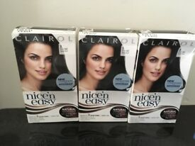 Nice n easy natural black hair dye x 3 brand new in boxes