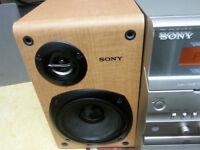 SONY TOP OF THE LINE MINI STERIO,4 SPEEKERS ( IN SIDE OR OUT )