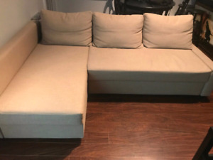 Mint condition ikea sectional sofa bed