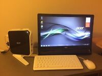 acer mini pc with LED monitor