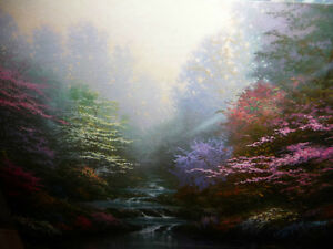 "Thomas Kinkade ""Garden of Prayer"" Art Print Stratford Kitchener Area image 3"