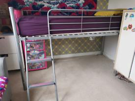 Kids mid sleep metal bed frame and mattress