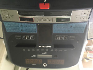 One nice electronic treadmill used very little