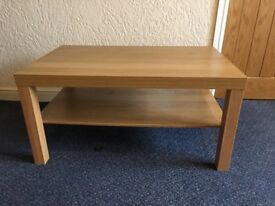 COFFEE TABLE OAK COLOURED WOOD LOUNGE DINING ROOM CONSERVATORY