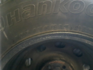 Only used one winter. Almost brand new hankook ipike 4 Winter ti
