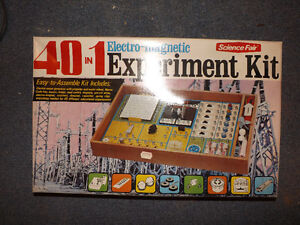 40-in-1 Radio Shack Electromagnetic Experiment Kit 1973