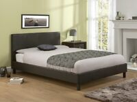 Normal Leather Bed Base Wi Semi Ortho Mattress And Different Color Available