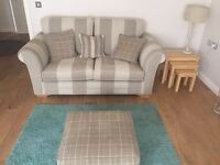 Sterling sofa and matching storage footstool