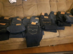 Jeans 14 pairs size 30 32 levies american eagle