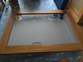 Solid oak mirror for sale