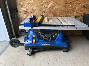 Master craft table saw with stand