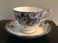 "Royal Albert Bone China ""Paradise"" Teacup Set"