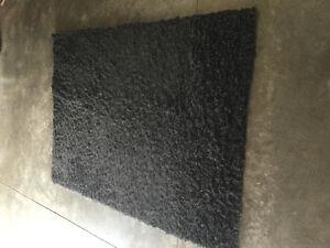 """Black Shag Area Rug 66""""X48"""" Kitchener / Waterloo Kitchener Area image 1"""