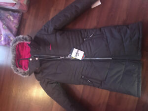 Brand new with tags Girls size 8 dark grey/pink Osh  Kosh parka