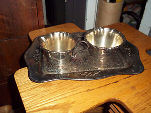 Silver plated three pieces