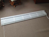 TWO  ~ 69 'w by 72 ' L white Faux wood  blind from Kent