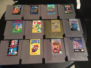 Nintendo NES Extra Controllers and Games.