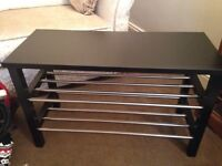 Ikea Tjusig Shoe Rack and Bench