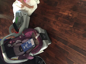 Infant car seat with two docks for car