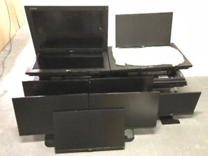 AS-IS 13 ASSORTED MONITORS DIGITAL SIGNAGE TO FIX OR PARTS - MNX