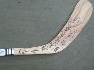 Limited edition team autographed Vancouver canucks hockey stick