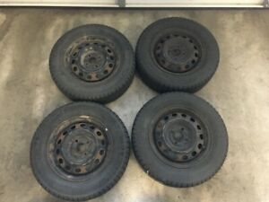 4 x Michelin X-Ice Winter Tires with Rims 185/70R14