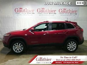 2016 Jeep Cherokee Limited  - Leather Seats - Heated Seats - Low