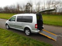 2014 Volkswagen Caddy Maxi Life 1.6 Tdi Wheelchair Accessible Adapted Vehicle