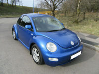 2002 '02' VOLKSWAGON BEETLE 1.9TDI 3 DOOR HATCH IN LOVELY MET BLUE