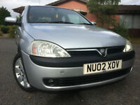 Vauxhall/Opel Corsa 1.2i 16v 2002.5MY SXi 80000 miles FSH ideal first time car