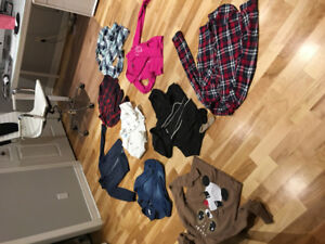 Lot vêtements fille 12-14 ans 20$