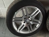"""17"""" AMG Staggard Mercedes Alloys & Tyres"""