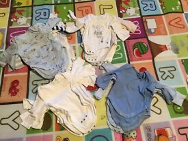 Selection of 0-3 month long sleeve vests