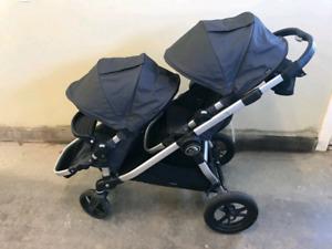 Poussette double Baby Jogger City Select comme neuve