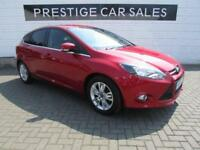 2014 Ford Focus 1.6 TDCi Titanium Navigator (s/s) 5dr Diesel red Manual
