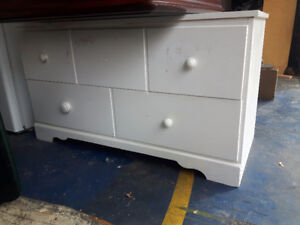 Low wood dresser. Great for tv stand with storage or foot of bed