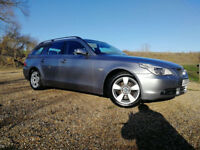 DOLPHIN GREY 2006 BMW 520 2.0TD Automatic SE Touring BLACK LEATHER FSH