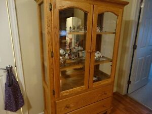 Solid oak China Display Cabinet
