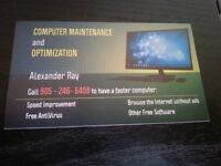 Computer Maintenance and Optimization - Phone number on the card
